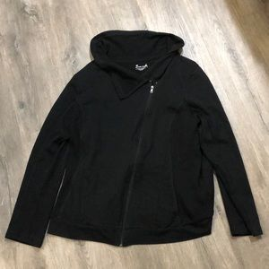 Exertek 2X Black Zip Up Sweatshirt